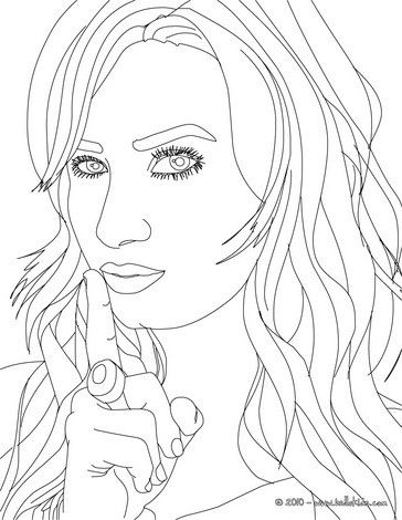 Demi Lovato Posing Coloring Page More Famous People Coloring Sheets On Hellokids Com Coloring Pages People Coloring Pages Star Coloring Pages