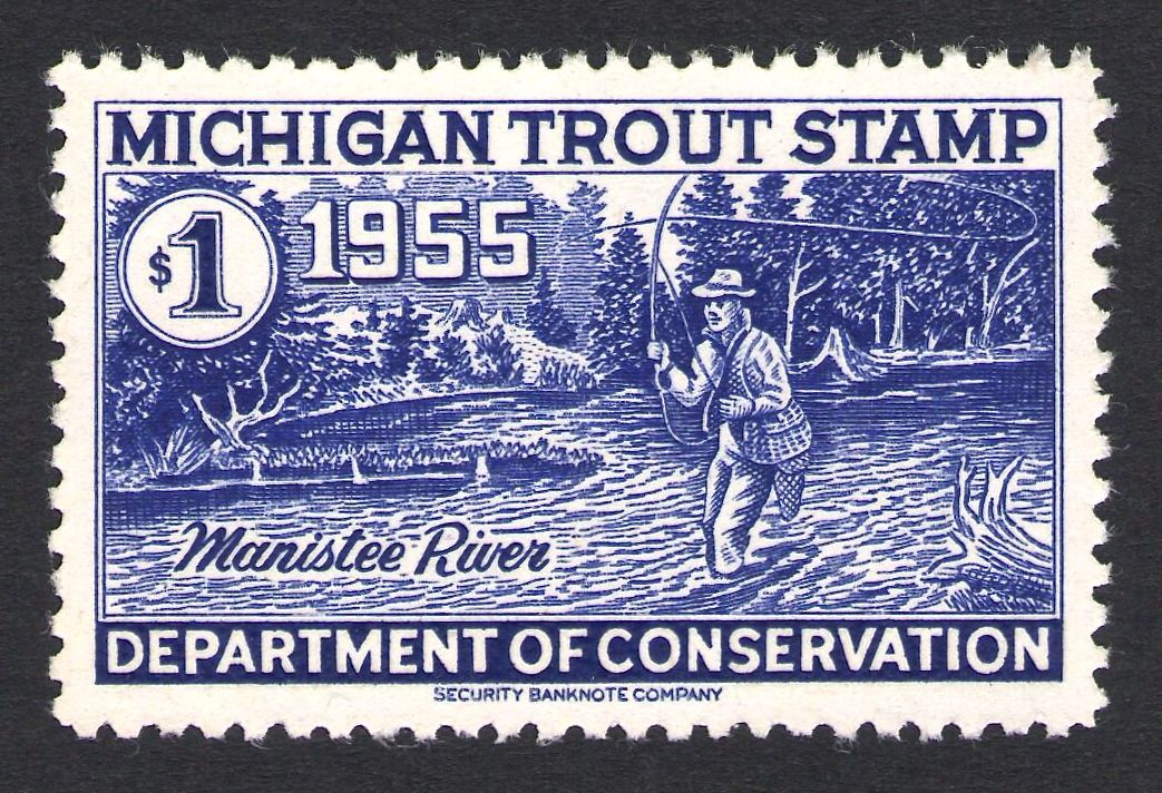 Pin By Waterfowl Stamps And More On Michigan Trout Stamps Patent