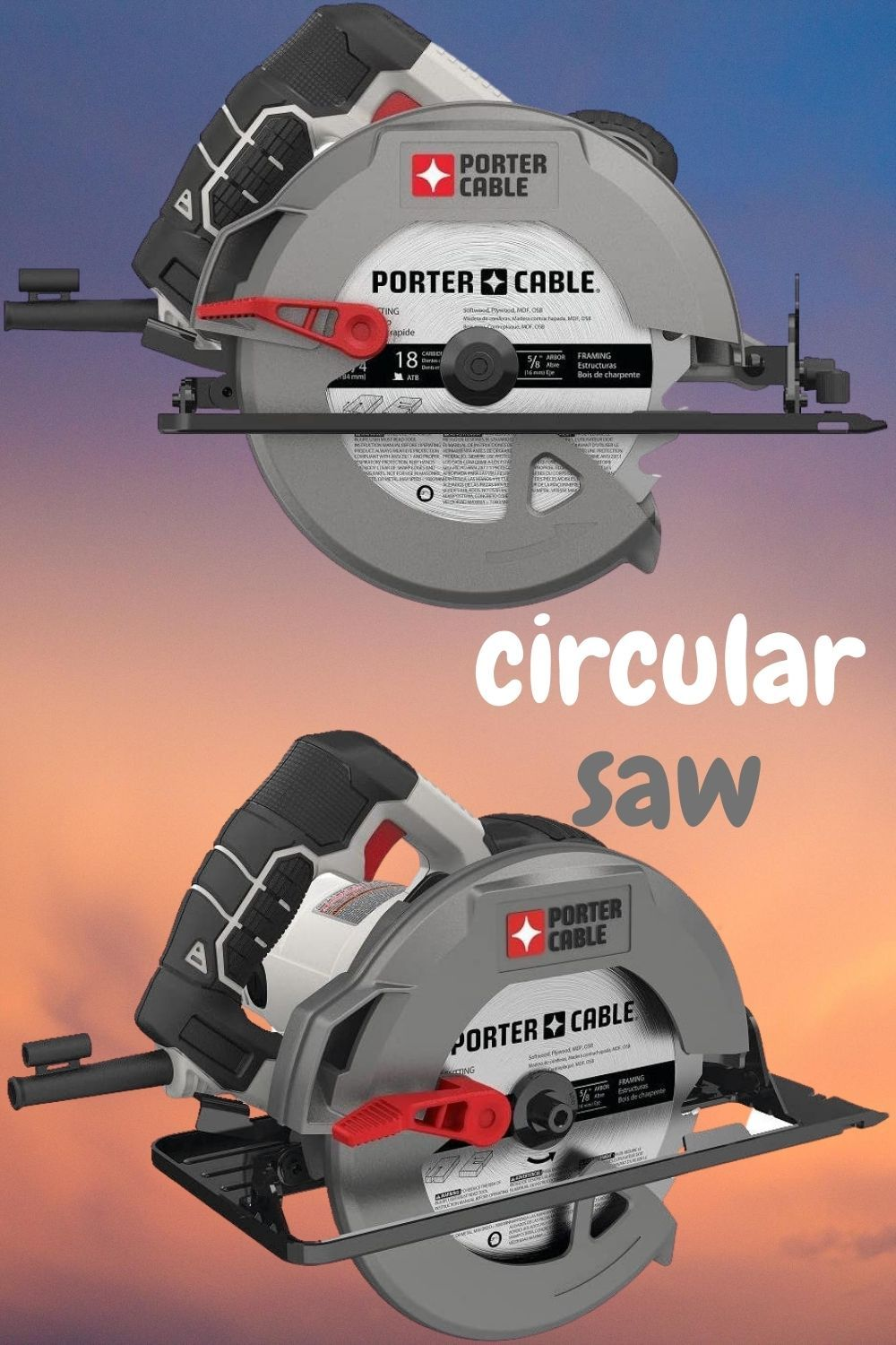 Porter Cable 7 1 4 Inch Circular Saw Heavy Duty Steel Shoe 15 Amp Pce300 In 2020