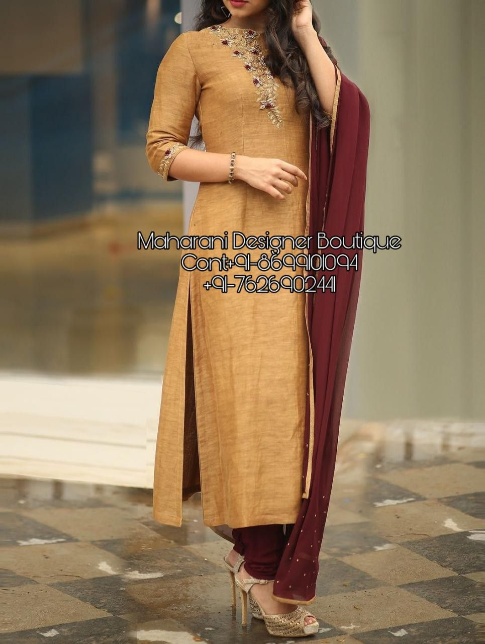 Pant Suit Design For Ladies Maharani Designer Boutique Kurta Neck Design Work Wear Women Suits For Women