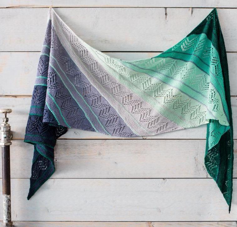 Kit Inara Wrap Knitting da Ambah O'Brien con Artyarns Esclusivo Milano Fade Filati | craftsy