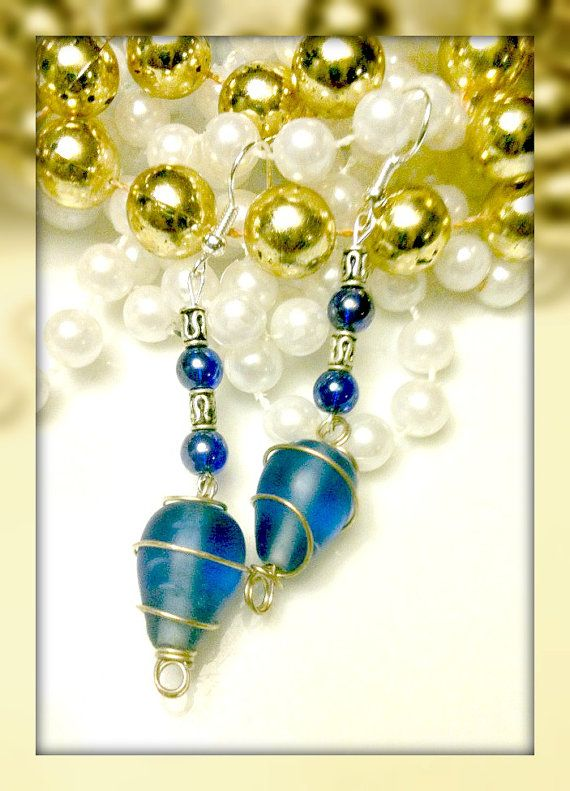 Peacock Blue by ForHerEarsOnly on Etsy, $15.00