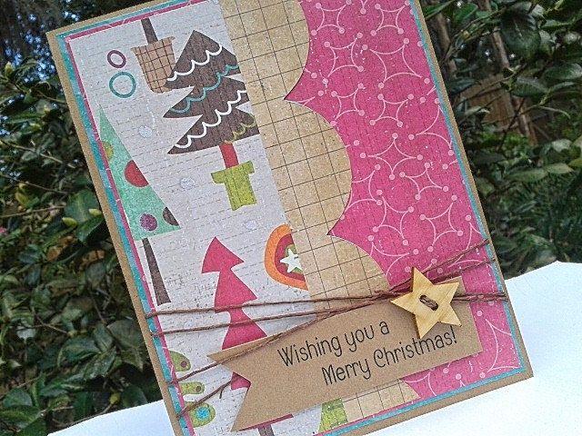 Merry Christmas Card - Paper Handmade Christmas Cards - Handmade - blank xmas cards