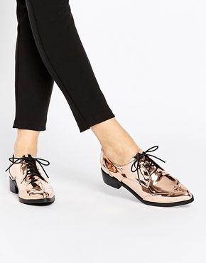 9b1e9cc2e7 ASOS | ASOS MERCURY Lace Up Pointed Shoes at ASOS | Amiket szívesen ...