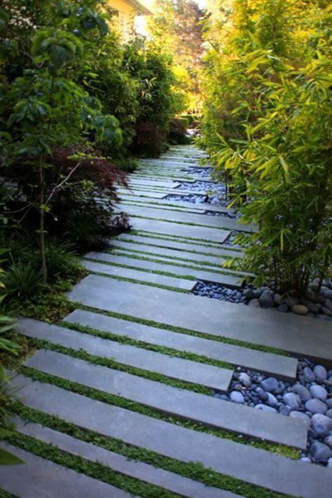 allées de jardin, un design atypique d\'allée de jardin | Idées d ...