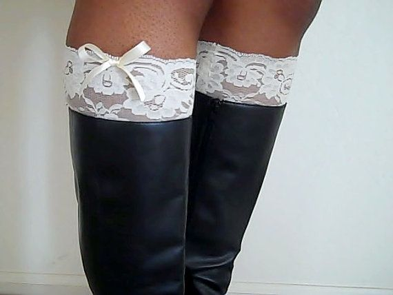 Super Easy  Make Your Own Ivory Lace Boot Cuffs  ...