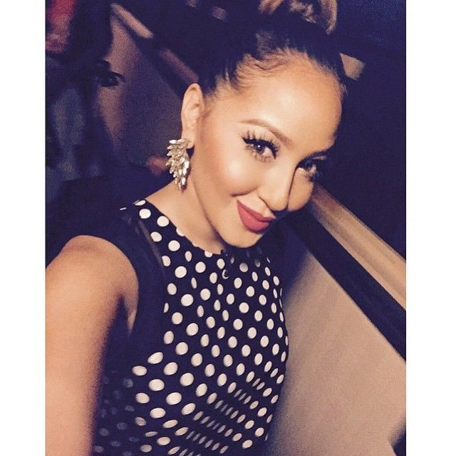 Adrienne Bailon In Our Luxe Crystal Wing Earrings On The Real