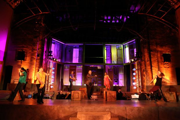 CAS proudly donated the doors for the set of Passing Strange on the main stage of The Garden Theatre