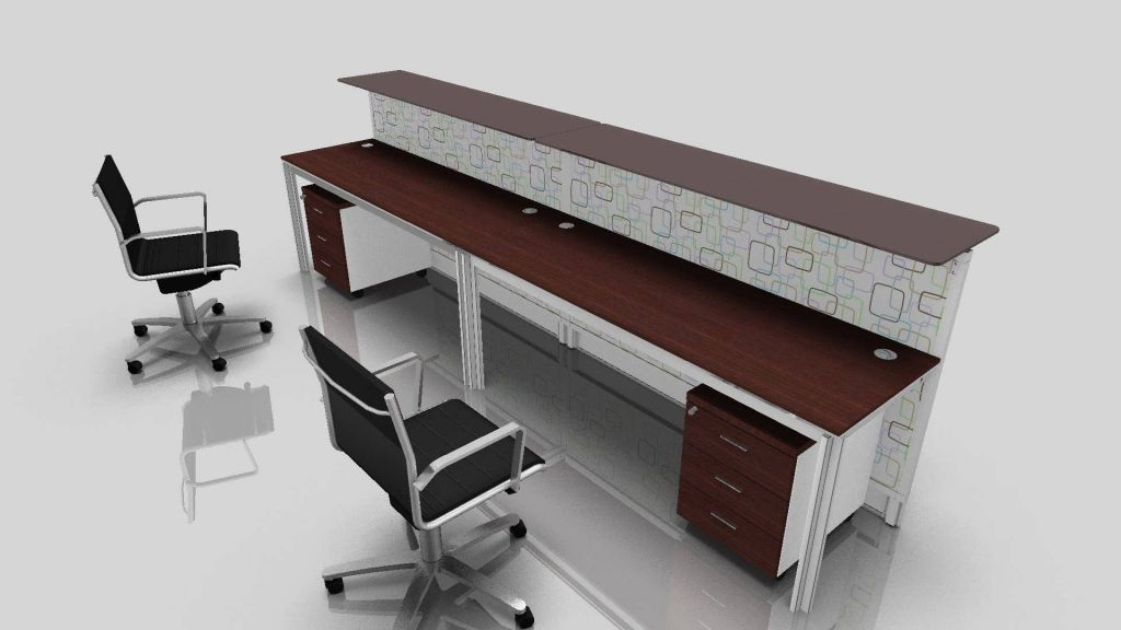 Desks For Two Person Office Real Wood Home Office - 2 Personen Schreibtisch