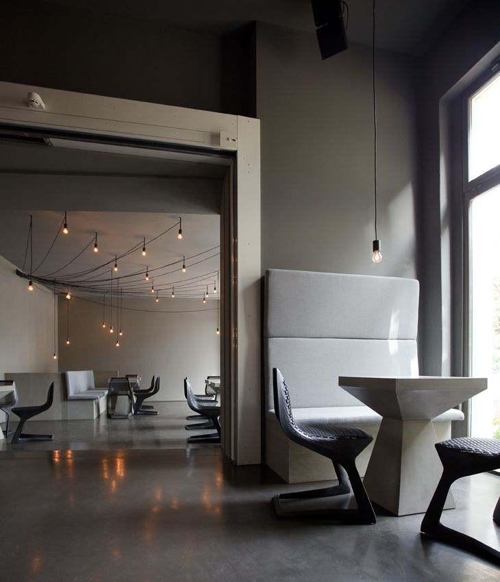MYTO chairs, design Konstantin Grcic, at Tin Restaurant Bar Club in ...