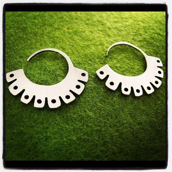 09e5758c2 CIRCULAR EARRING, hoop earrings, ethnic jewelry, modern earrings ...