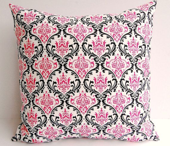 Decorative pillow cover One 20 x 20 hot pink by ThePillowPeople, $18.00