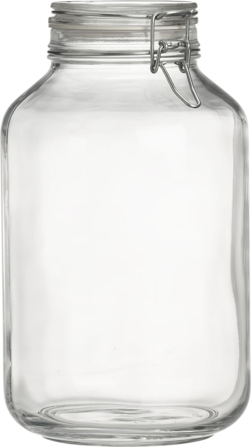 mainstays 38 oz clear glass jar with clamp lid