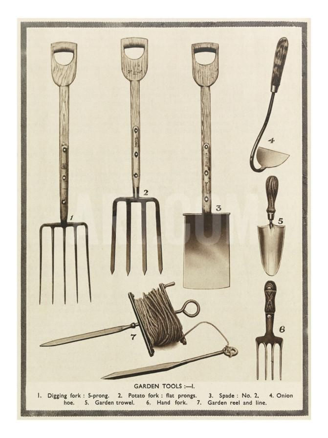 Garden Tools Giclee Print At Eu Art Com Garden Tools Garden