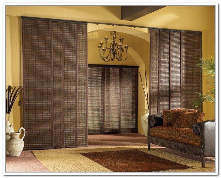 This is what i want sliding panel curtains room divider for Curtain partition living room