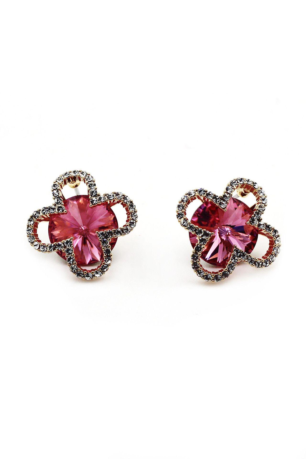 Super mini flowers crystal earrings
