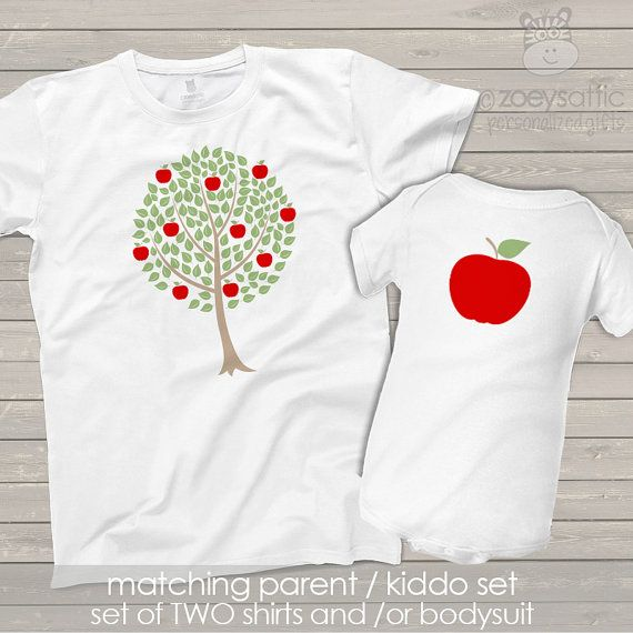 Matching parent baby / kid shirts - apple doesn't fall far from the tree - perfect for moms and dads to match baby or kiddo MMGA1-027 sMPw3To
