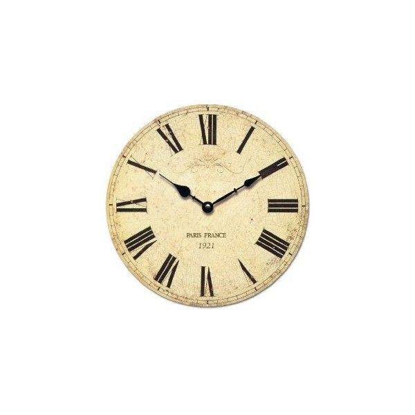Shabby Chic French Style Wall Clock In Antique Cream Perfect