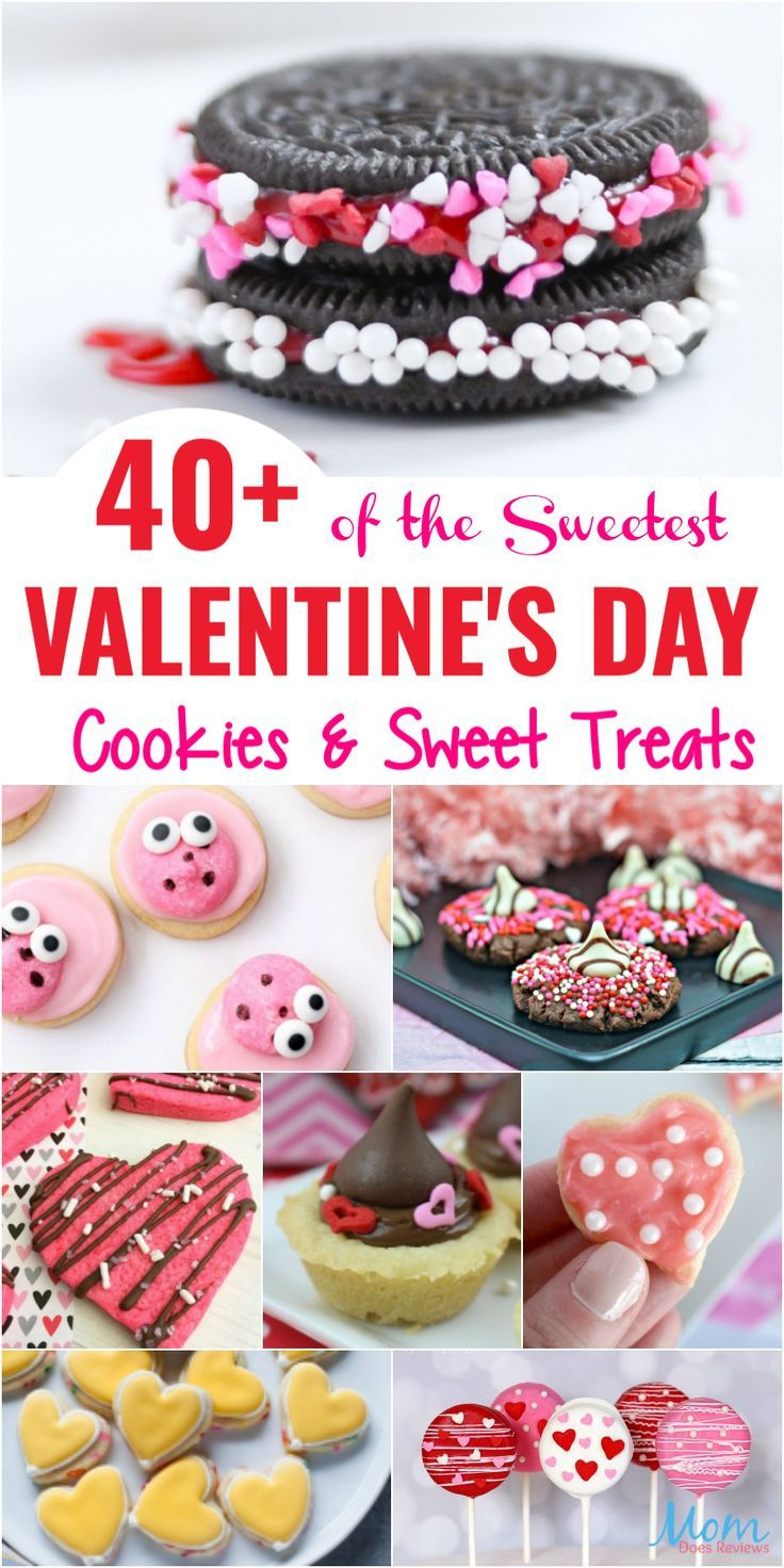 40+ of the Sweetest Valentine's Day Cookies & Sweet Treats #recipes #sweets #valentinesday #cookies - Mom Does Reviews