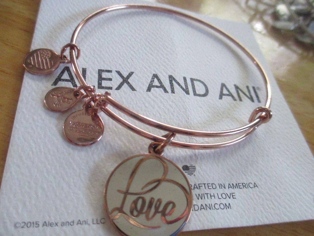 Alex And Ani Love Rose Gold Bracelet Limited Edition Rare Alexandani
