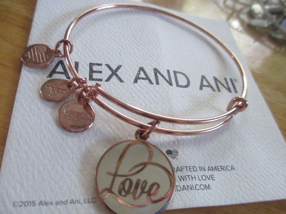 Alex And Ani Love Rose Gold Bracelet Limited Edition Rare Alexandani