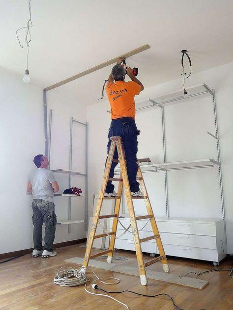 Costruire Una Cabina Armadio In Cartongesso.Cabina Armadio In Cartongesso Casa Closet Bedroom Build A