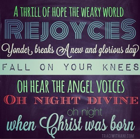 lyric typography - Google Search | Christmas song quotes, Christmas lyrics, Oh holy night