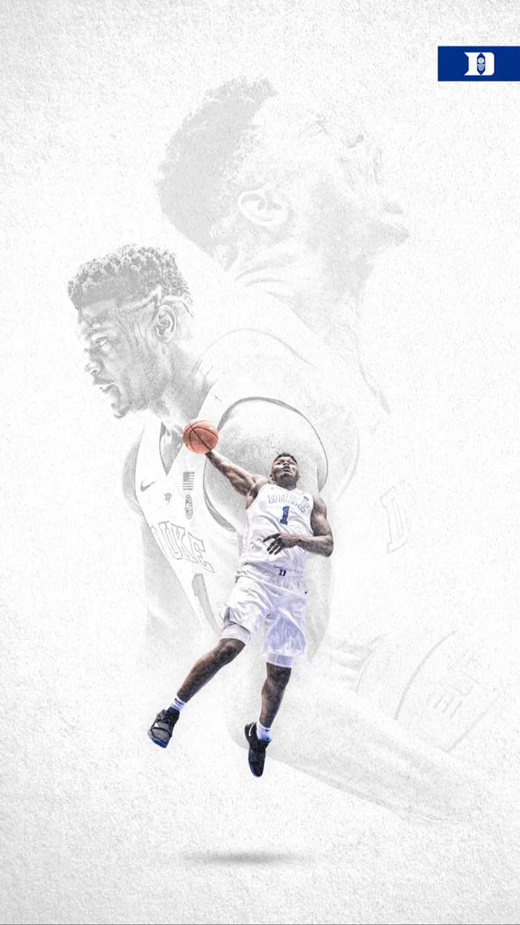 Zion Williamson Duke Blue Devils Basketball Basketball Wallpaper Nba Wallpapers
