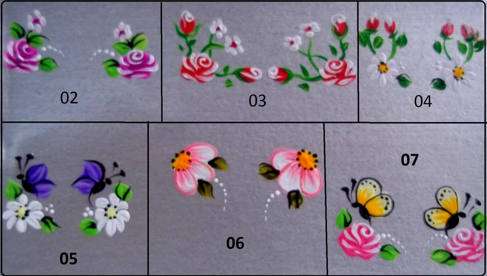 Armario Tok Stok Vai E Vem ~ adesivos para unhas vários modelos desenhos Pinterest