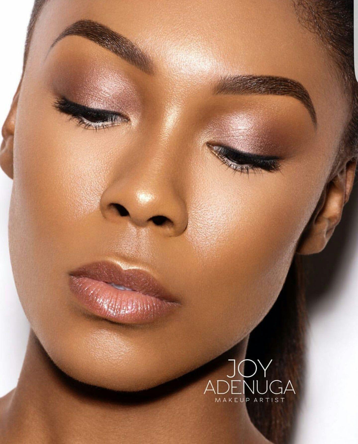 Natural makeup  Dark skin makeup, Skin makeup, Makeup for black women
