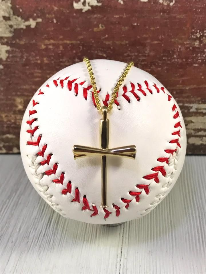 Gold Original FiveTool Baseball Bat Cross Pendant Baseball bats