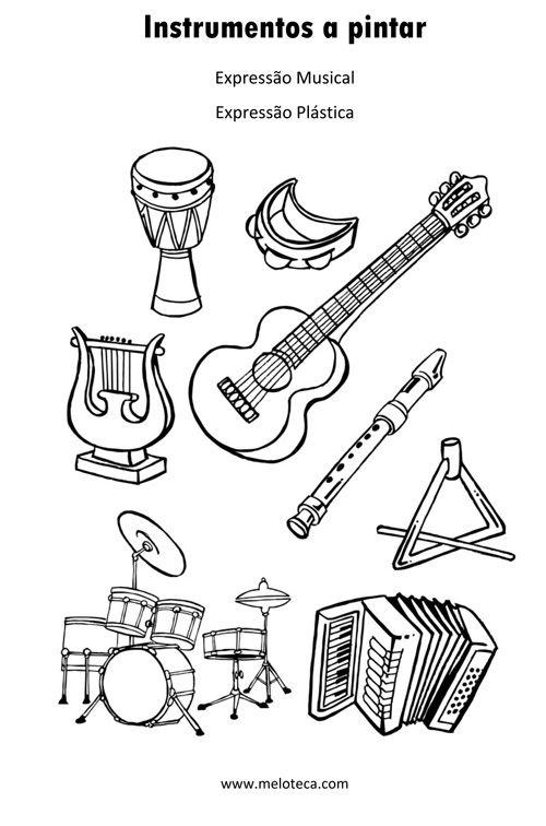 Instrumentos A Pintar Atividades De Educacao Musical Atividades