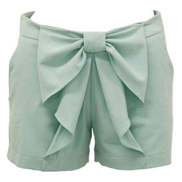 cute mint shorts--love the bow