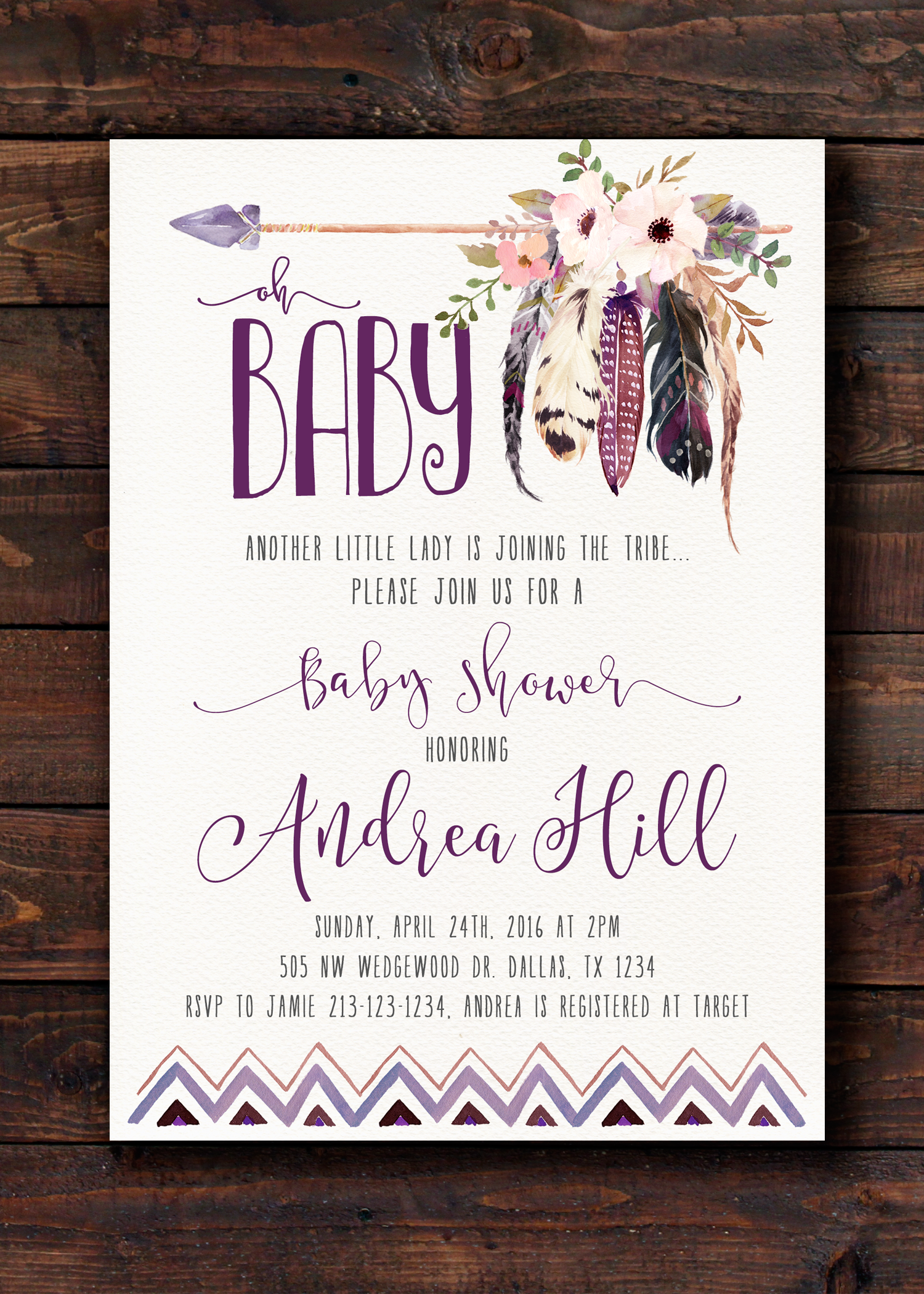 Adorable Rustic Boho Shower Invite! From 21Willow on Etsy