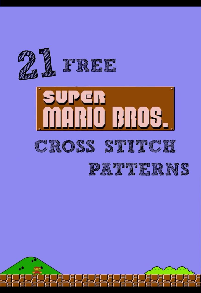 And She Games...: 21 FREE Super Mario Cross Stitch Patterns   Sewing ...