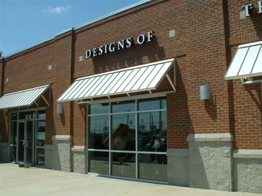This Awning Is A Standing Seam Awning Lots Of Commercials Builders Are Using This Type Of Awning To Add With Images Custom Awnings Building Front House Exterior