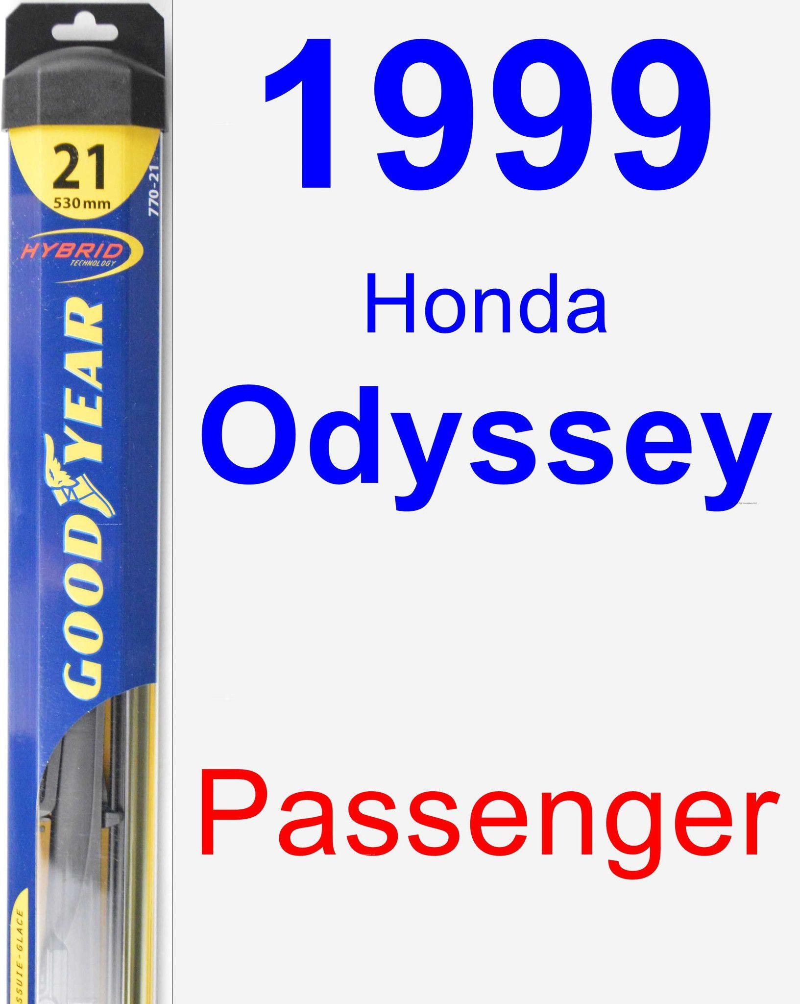 Passenger Wiper Blade for 1999 Honda Odyssey Hybrid