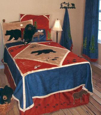 Very cute boy's bedding set.  Find it at Cabelas!