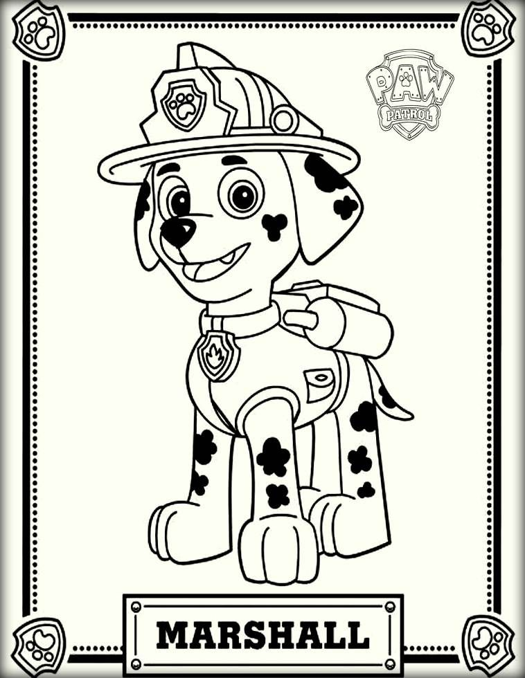 Marshall Paw Patrol Color Pictures Paw Patrol Coloring Paw Patrol Coloring Pages Paw Patrol Printables