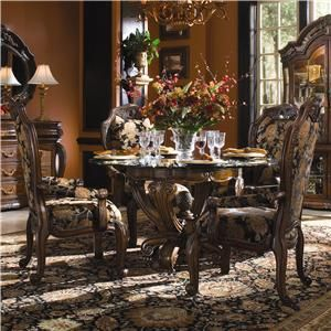Aico Amini Innovation Oppulente 5 Piece Round Dining Table Set 67001rnd 52 4x04 Round Dining Room Sets Round Dining Set Dinette Sets