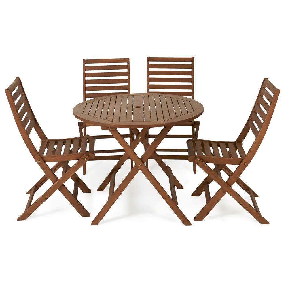 FSC Wooden Patio Set 4 Seater (With images) | Wooden ...