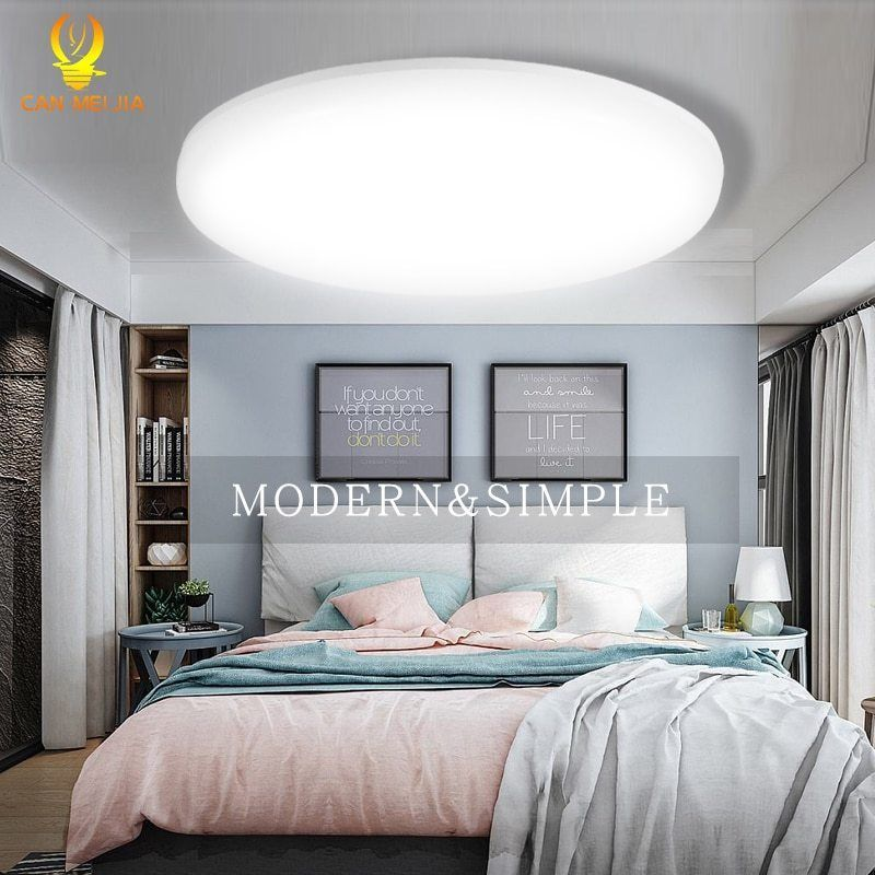 Round Led Recessed Ceiling Panel Light Slim Flush White Fitting White Ceiling Lights Living Room Modern Led Ceiling Lights Ceiling Lights