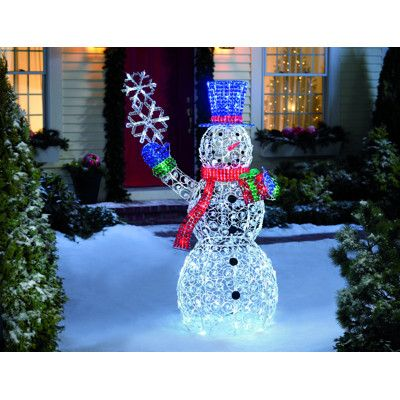 LED Crystal Swirl Snowman | Christmas decorations ...