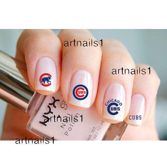 Chicago Cubs Baseball Game Nail Art Nails Polish by artnails1 ...