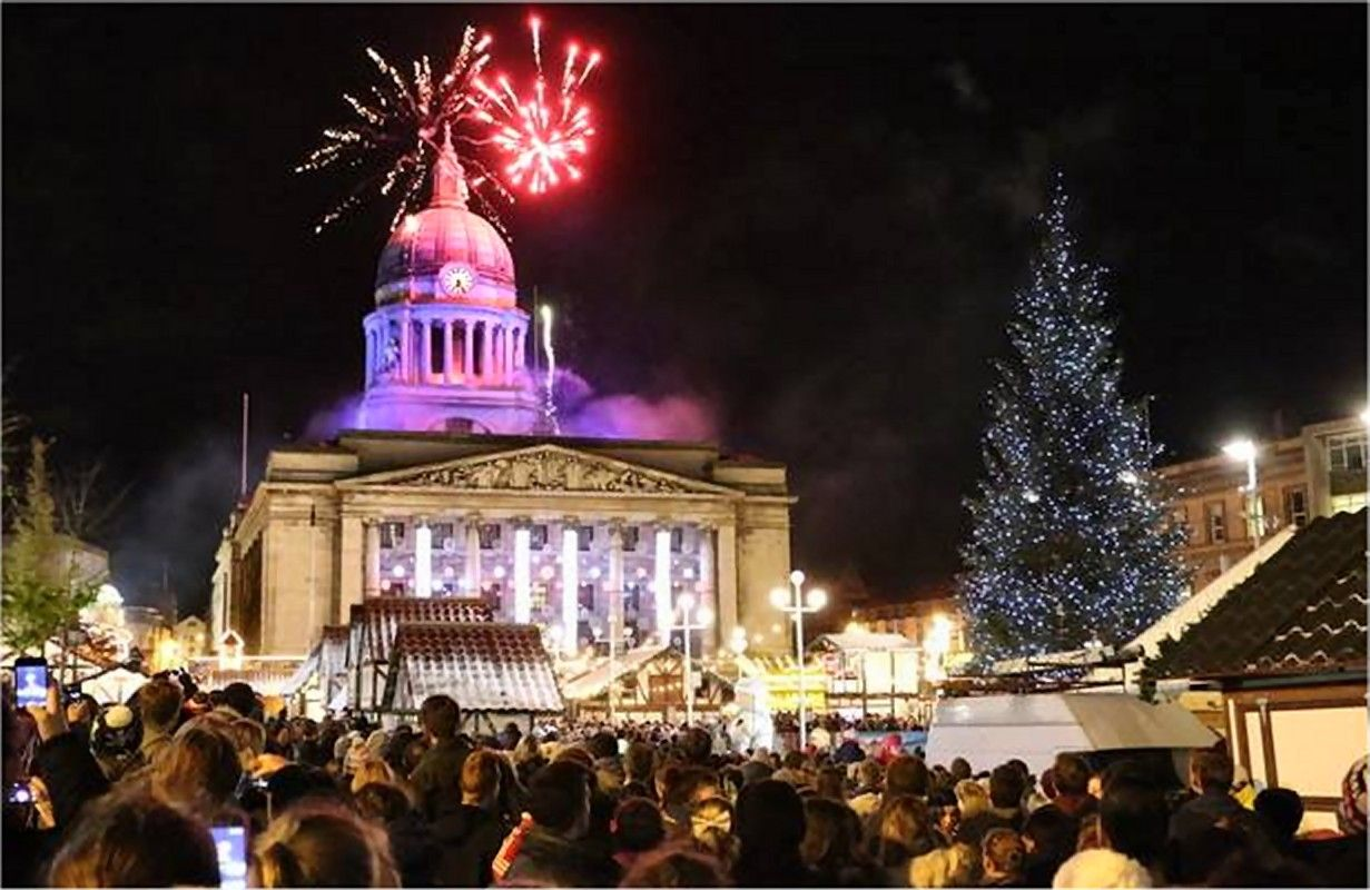Switching on the 2013 Christmas Lights in Nottingham