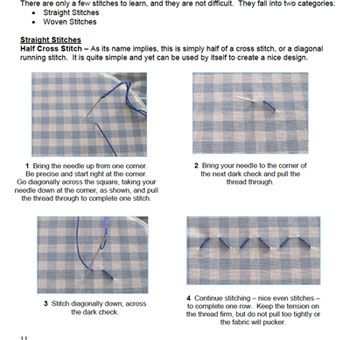 Chicken Scratch, Gingham Embroidery Book