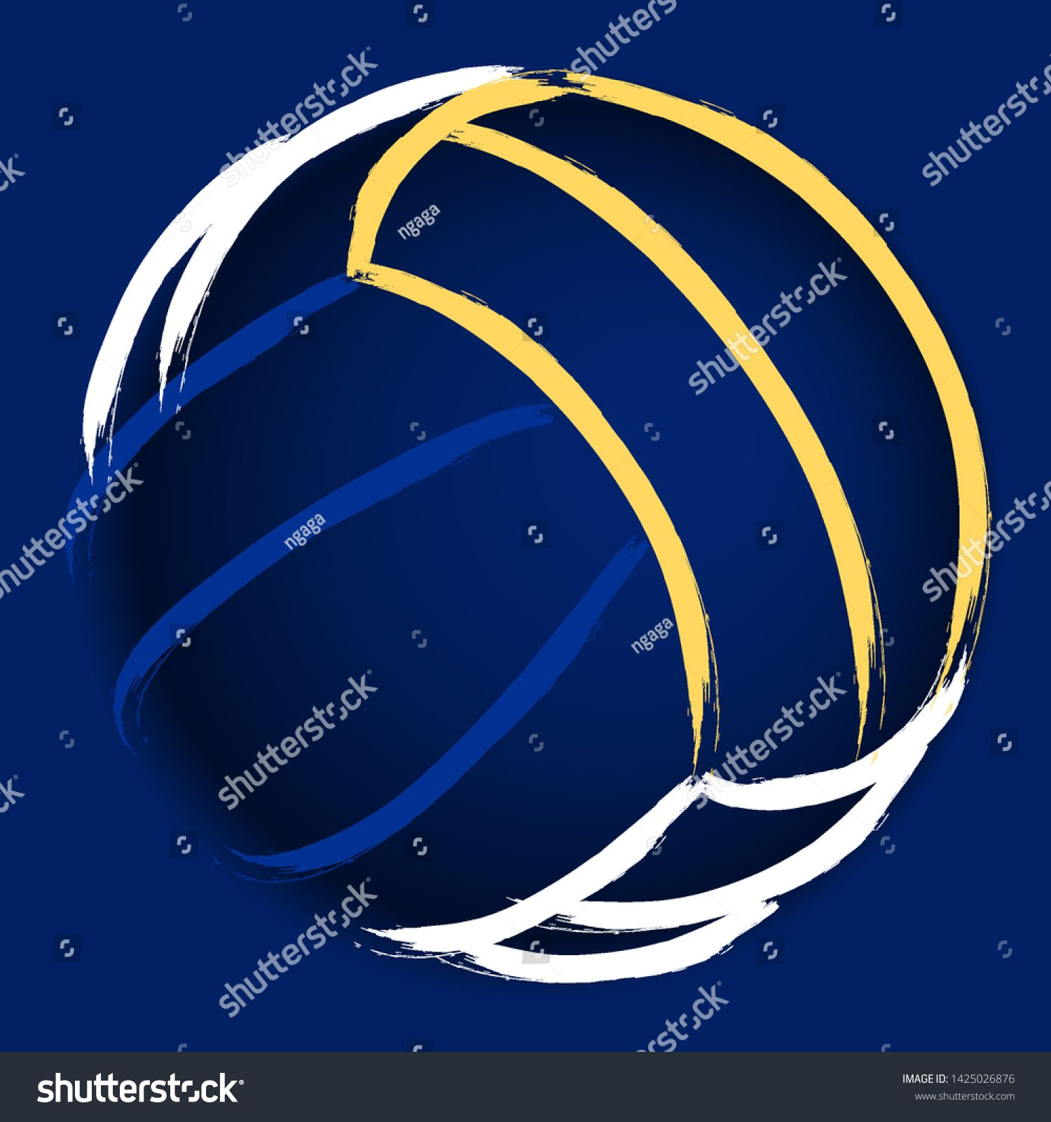 Stylized Illustration Hand Drawing Of A Volleyball Background Sport Vector Ad Spon Hand Drawing Styliz In 2020 How To Draw Hands Stylized Volleyball Backgrounds