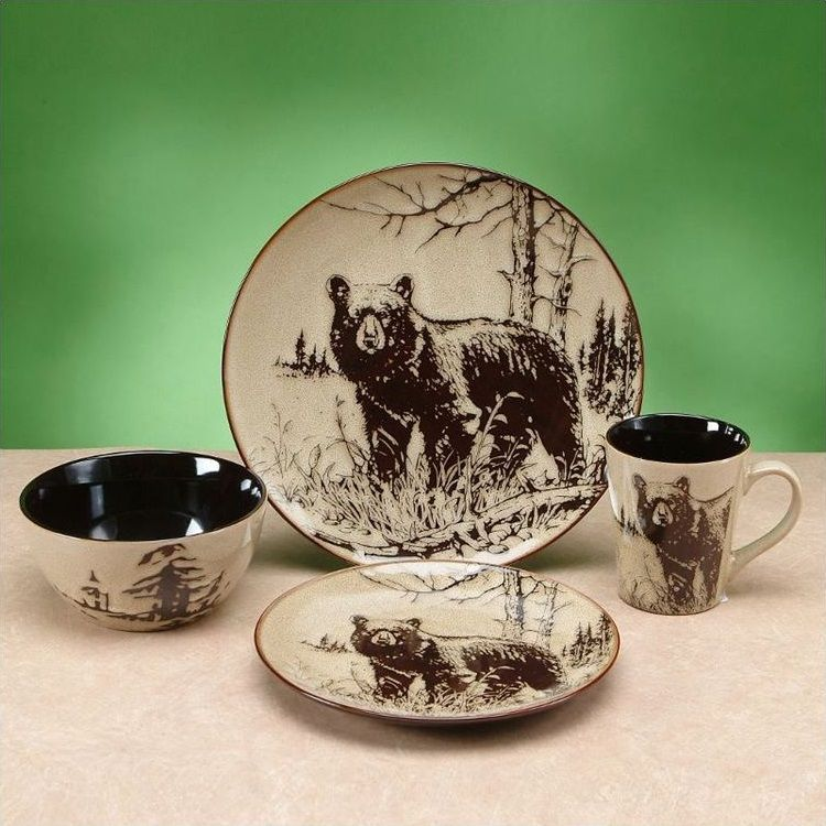 Bear Dinnerware 4 Pc Place Setting Bear Gifts Amp Home