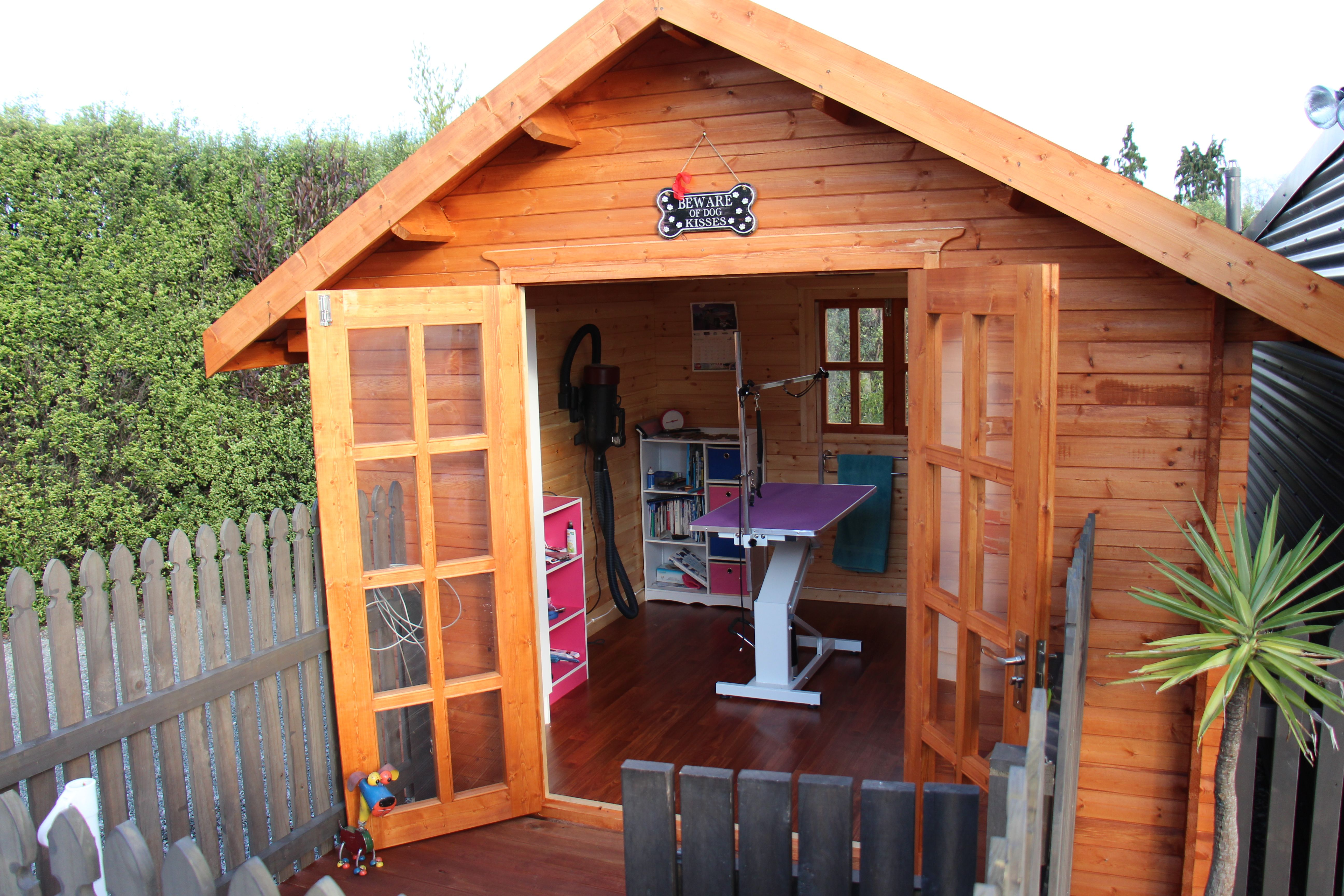 U0027Doggy Day Careu0027   Use A She Shed For Your Own Home Business.
