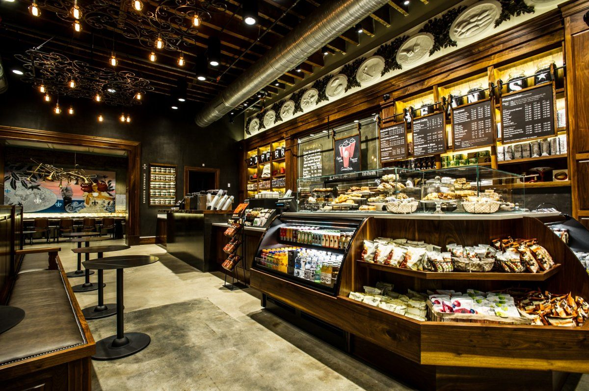 New Orleans Local Inspiration For Starbucks Coffee Shop In Rustic Design Interior Furniture
